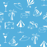 Sea travel seamless funny pattern Stock Photos