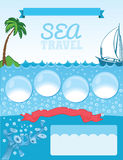 Sea travel template Royalty Free Stock Photos