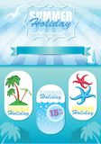 Sea travel template, vector flyer layout Royalty Free Stock Photo
