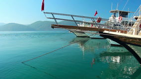 Sea travel in Turkey stock video footage