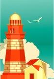 Sea travel vintage poster Stock Photo