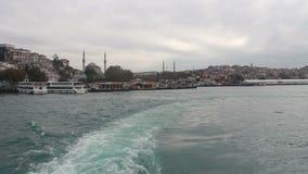 Sea traveling, Istanbul city, December 2016, Turkey stock footage