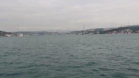 Sea traveling, Istanbul city, December 2016, Turkey stock video