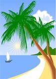 Sea and tree Royalty Free Stock Photo