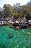Sea and trees, Kusadasi Turkey Stock Image