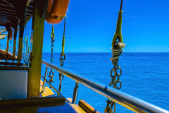 Sea trip on board of ship in Alanya Stock Images