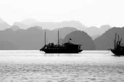 Sea Trip at the Dawn Royalty Free Stock Photo
