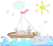 Sea Trip doodles Stock Image