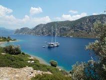 Sea trip, Turkey. Enjoying beautiful views, warm sea and hot summer weather stock images