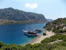 Sea trip, Turkey. Enjoying beautiful views, warm sea and hot summer weather royalty free stock photography