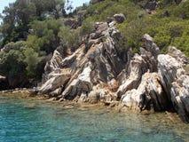 Sea trip, Turkey. Enjoying beautiful views, warm sea and hot summer weather stock photography