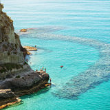 Sea. Tropea, beautiful city and sea of Calabria, Italy Royalty Free Stock Images
