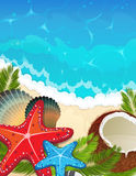 Sea tropical background Stock Photography