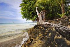 Sea and tropical beach. Photographed on the beach of Koh Chang island. Thailand Royalty Free Stock Photo