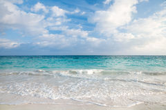 Sea and tropical sky in Caribbean beach Stock Photos