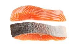 Sea trout fillets Royalty Free Stock Photography