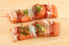 Sea trout fillets Royalty Free Stock Photos