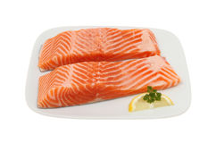 Sea trout on plate Royalty Free Stock Photography
