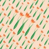 Sea of tulips. Tenderness. Stock Photo