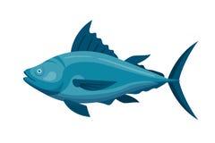 Sea tuna fish vector illustration. Stock Photos