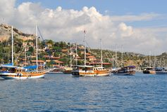 Sea in Turkey Kekova Royalty Free Stock Photography
