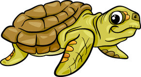Sea turtle animal cartoon illustration Royalty Free Stock Photo