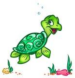 Sea turtle cartoon illustration Royalty Free Stock Photography