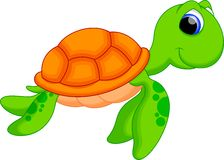 Sea turtle cartoon stock illustration