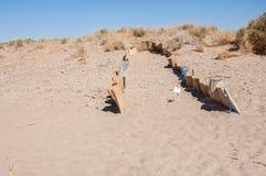 Sea turtle nesting site on Zakynthos Stock Photo
