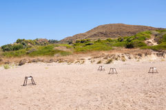 Sea turtle nesting site on Zakynthos Stock Photography