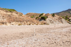 Sea turtle nesting site on Zakynthos Royalty Free Stock Photo