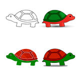 Sea turtle symbol for download. Vector icons Stock Photography