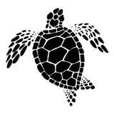 Sea turtle, vector. Clip art black sea turtle on white background, vector illustration Royalty Free Stock Image