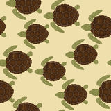 Sea turtles pattern Royalty Free Stock Photo