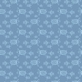 Sea turtles pattern Royalty Free Stock Image