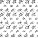 Sea turtles pattern Stock Photography
