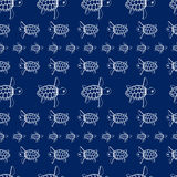 Sea turtles pattern Stock Image