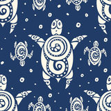 Sea Turtles.  Seamless Vector pattern. Stock Images