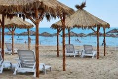 Sea umbrella. In Nesebar Bulgaria Royalty Free Stock Photography