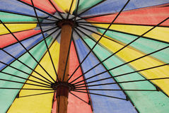 Sea umbrella. Colourfull line structure Stock Photography