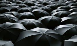 Sea of umbrellas Stock Images