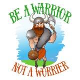 Sea un guerrero no un pesimista stock de ilustración