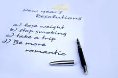 Sea una resolución más romántica Foto de archivo libre de regalías