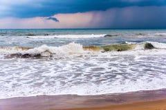 Sea under stormy sky Royalty Free Stock Image