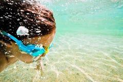 Sea underwater motion Stock Photos