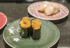 Sea urchin roe japanese sushi uni gunkanmaki Royalty Free Stock Photography