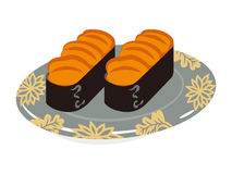 Sea urchin Sushi plate. 