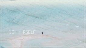 Sea usted mismo Bahía de Balos en la isla de Crete en Grecia foto de archivo libre de regalías