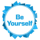 Sea usted mismo círculo al azar azul de las formas Imagen de archivo libre de regalías