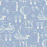 Sea vacation pattern Royalty Free Stock Photography